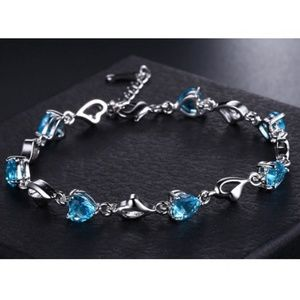 Jewelry - CZ Silver Blue Tennis Bracelet | Coming_Soon